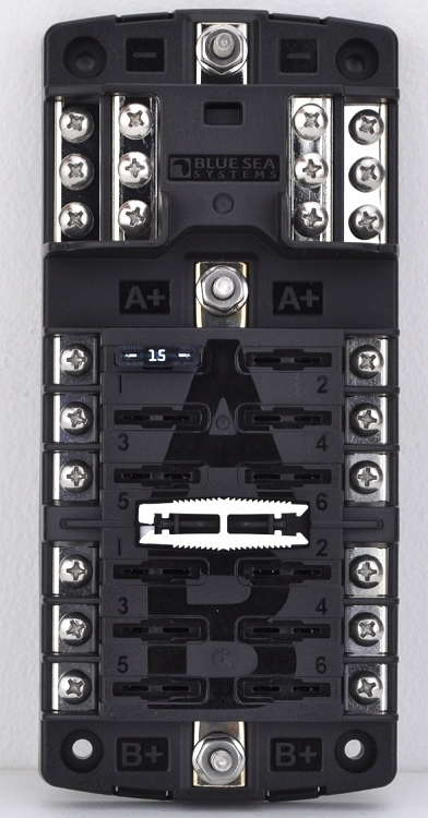 blue sea systems 5032 split bus fuse block with cover and. Black Bedroom Furniture Sets. Home Design Ideas