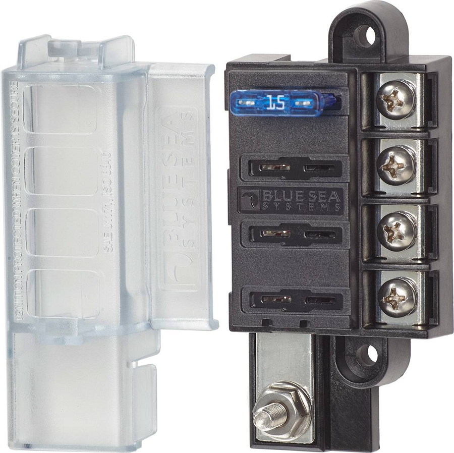 Blue Sea Systems 5045 Compact Blade Fuse Block With 4 Circuits