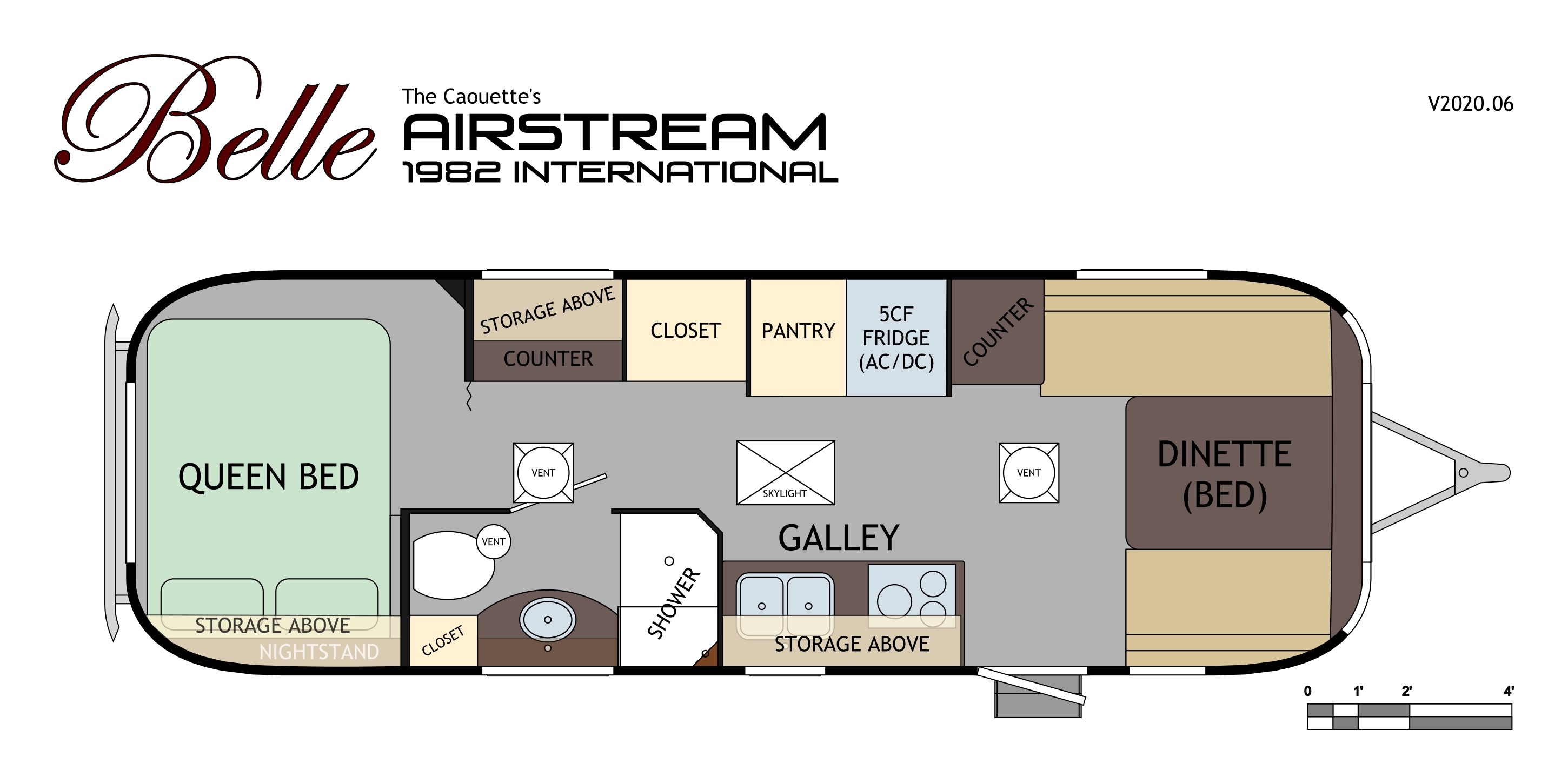 Airstream floor plan