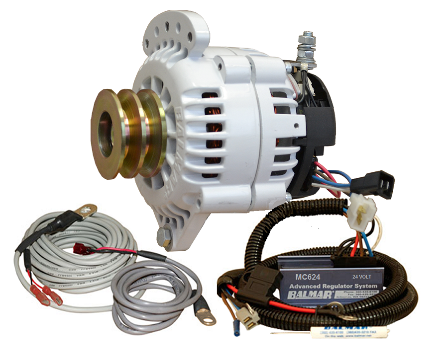 Balmar 60-YP-24-70-DV Alternator and regulator kit -24 Volt 70 Amp Dual Pulley