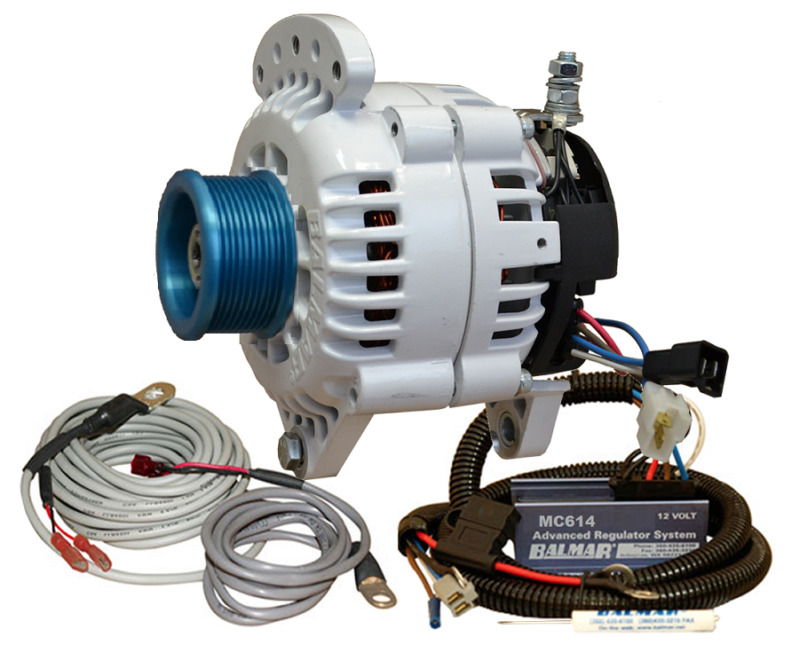 Balmar 60-YP-MC-100-J10 Alternator and regulator kit -12 Volt 100 Amp J10 Pulley