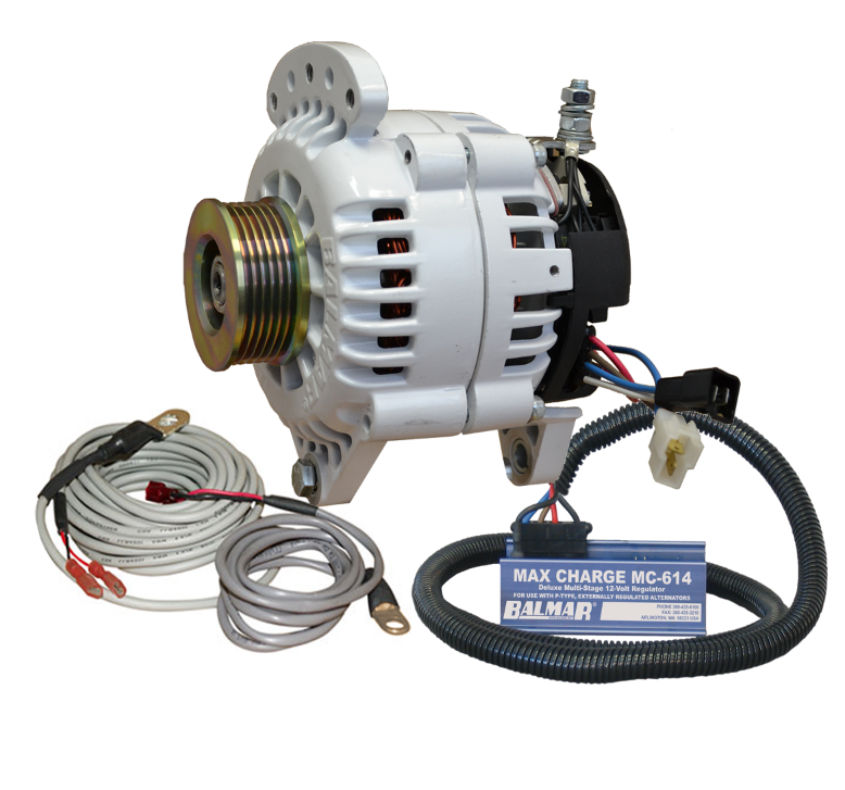 Balmar 60-YP-MC-120-K6 Alternator and regulator kit -12 Volt 120 Amp K6 Pulley