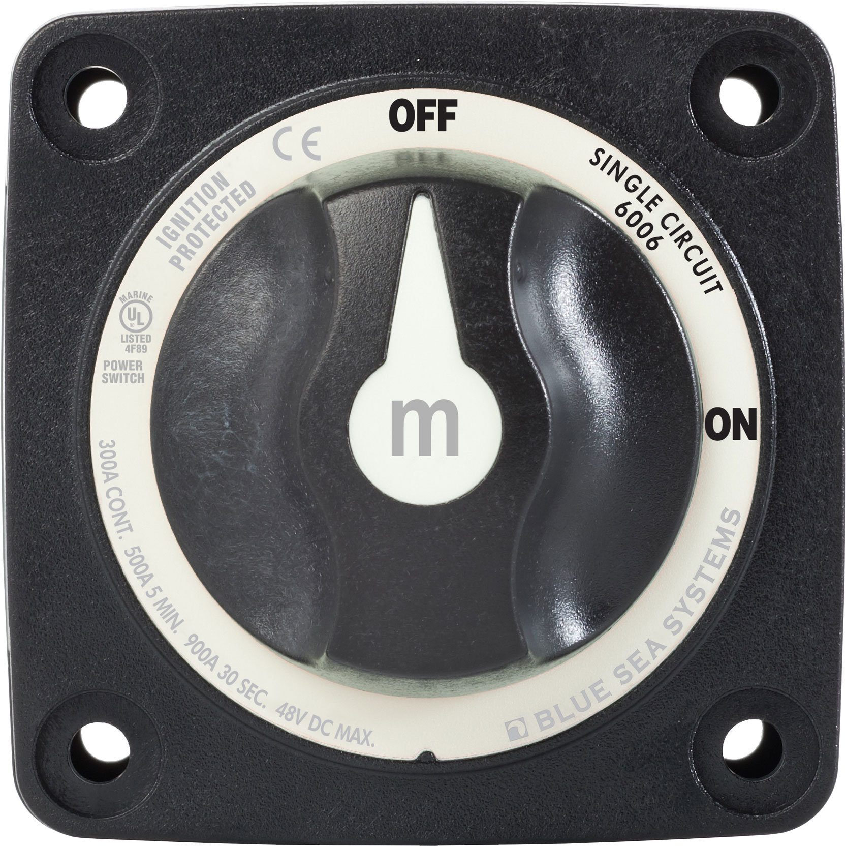Blue Sea 6006200 Mini ON-OFF Battery Switch in Black