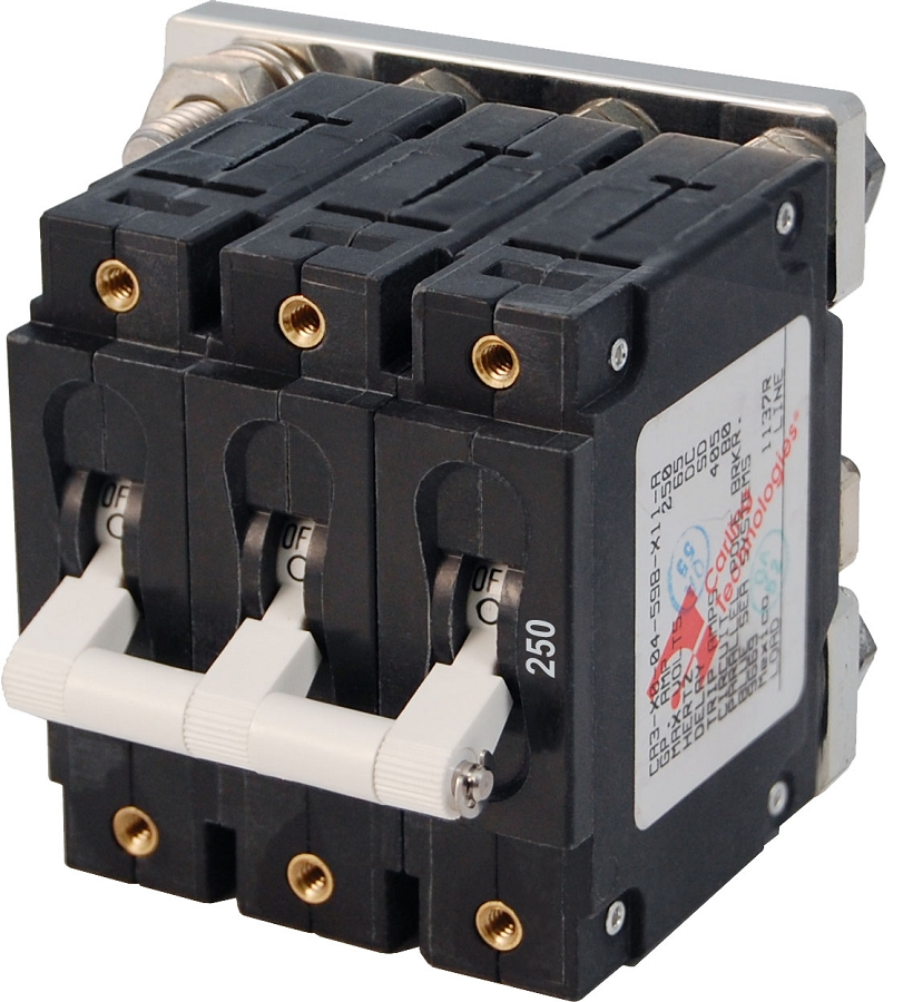 Blue Sea 7270 Triple Pole DC Circuit Breaker 250A White