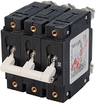 Blue Sea 7289 Triple Pole Circuit Breaker 80 Amps White