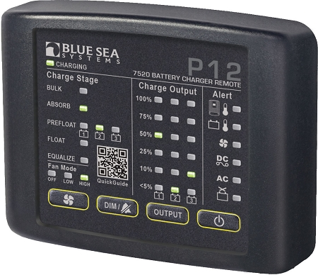 Blue Sea 7520 P12 Battery Charger Remote LED