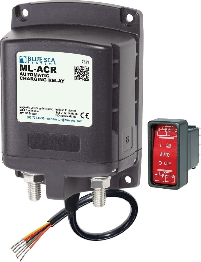 Blue Sea 7621 Automatic Charging Relay for 24 Volts