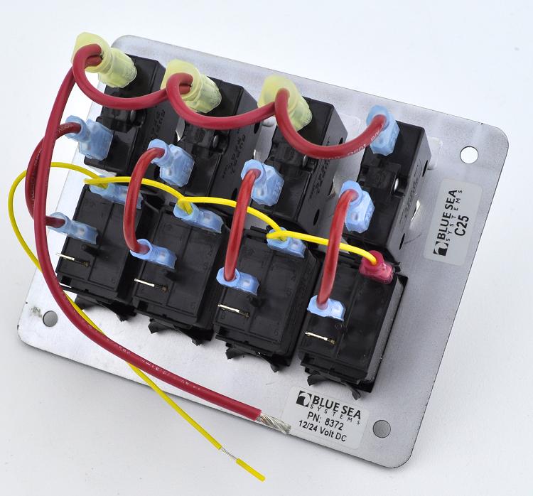 Blue Sea 8372 Waterproof Circuit Breaker Panel