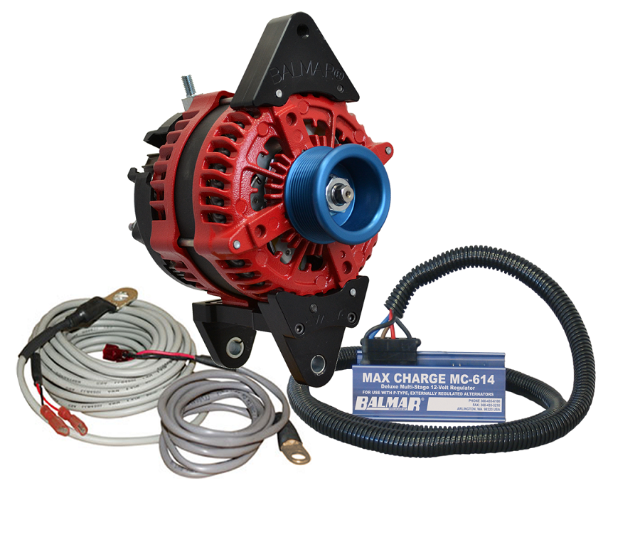 Balmar AT-DF-200-J10-KIT alternator kit with Max Charge regulator