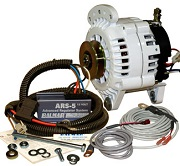 Alternator kit with regulator, sensors and hardware