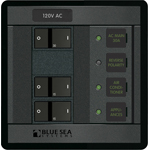Blue Sea 1214 Modular 360-Series Panel 120VAC Main + 2 Positions