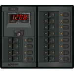 Blue Sea 1217 Modular 360-Series DC Panel 12 pos with Multimeter