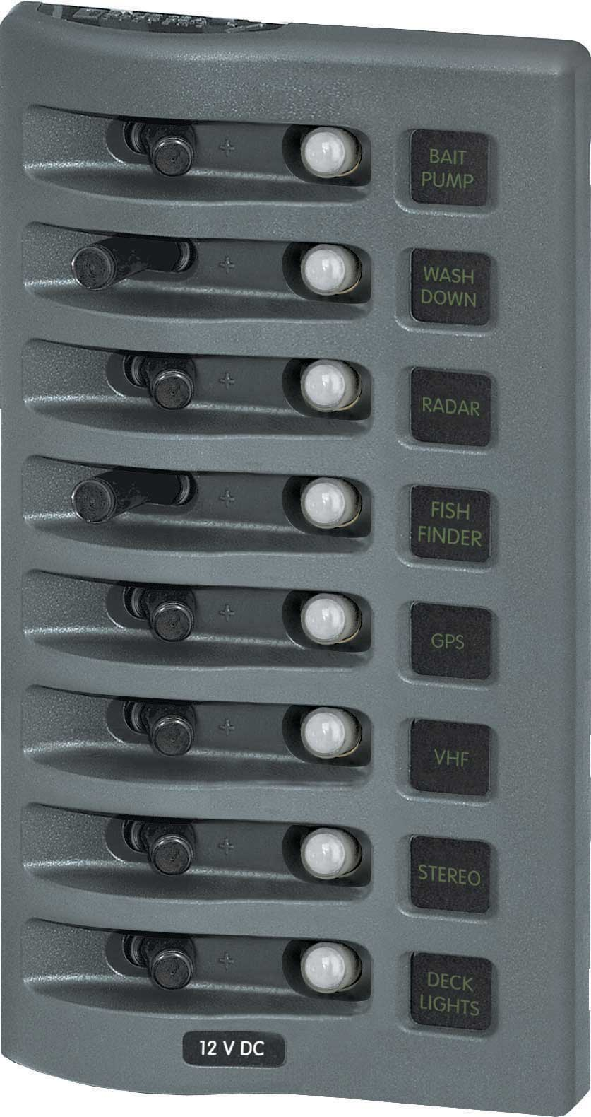 Blue Sea 4378 Waterproof Circuit Breaker Panel 12 Volt DC