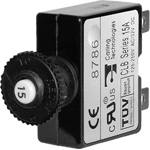 Blue Sea 7058 Push Button Circuit Breaker 25A