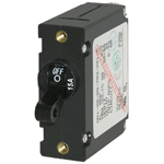 Blue Sea 7208 Single Pole Circuit Breaker 15 Amps Black