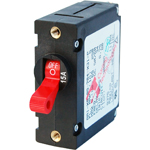 Blue Sea 7209 Single Pole Circuit Breaker 15 Amps Red
