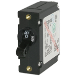 Blue Sea 7224 Single Pole Circuit Breaker 40 Amps Black