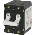 Blue Sea 7242 Double Pole Circuit Breaker 50A White