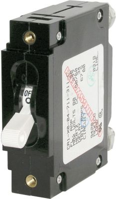 Blue Sea 7353 C-Frame Single Pole Circuit Breaker 20 Amps White