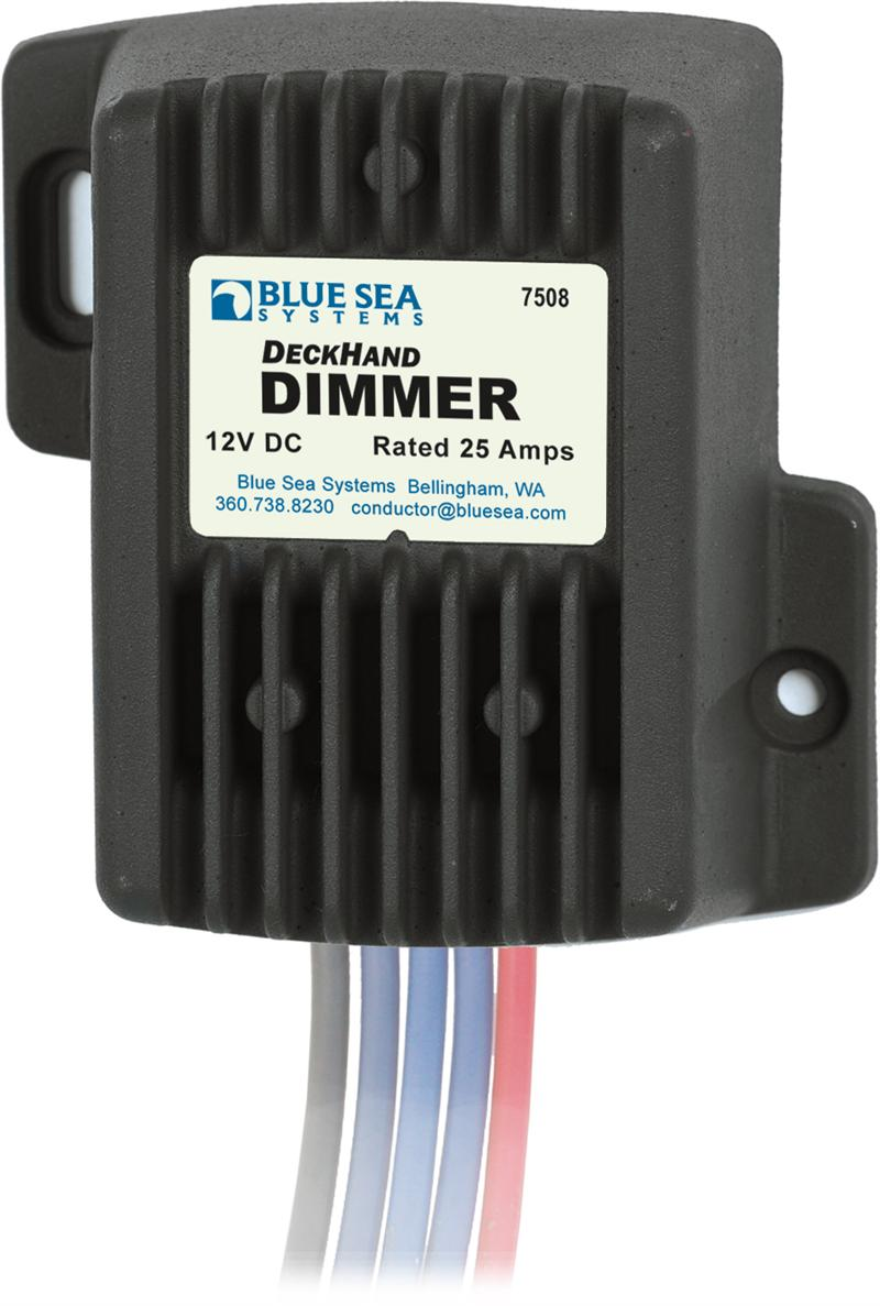 Blue Sea 7508 Deck Hand Dimmer and Switch 25 Amp