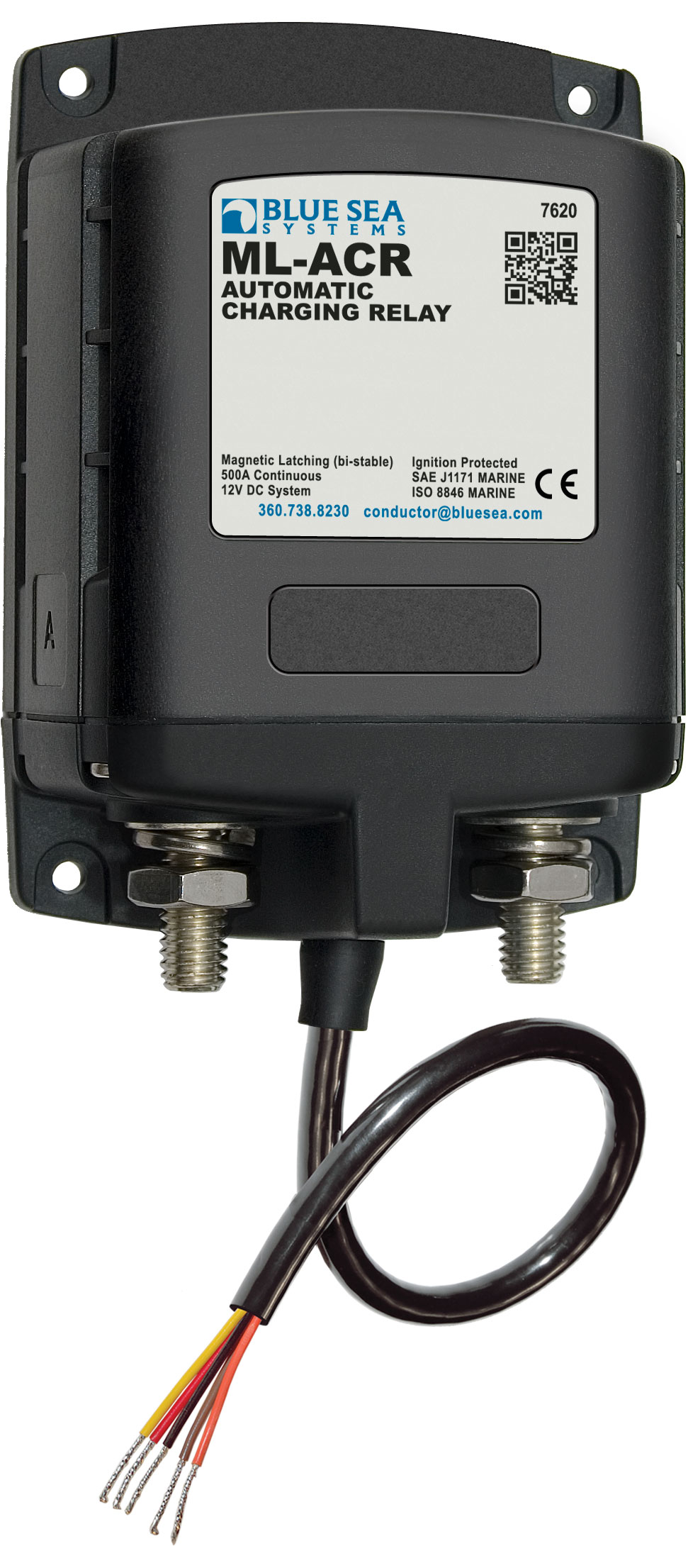Blue Sea Systems 7620 Solenoid Ml Series 500a 12v Acr Relay Switch