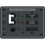 Blue Sea 8029 Panel 120VAC Main + 1 Pos