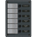 Blue Sea 8053 Waterproof Panel 12 Volts DC 6 Position Vertical