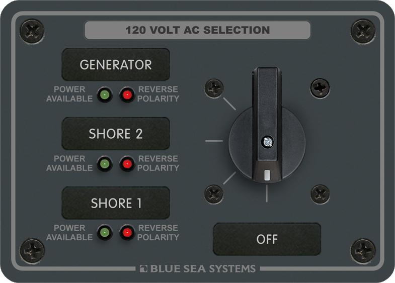 Blue Sea Systems 8366 AC Rotary Panel 120VAC/32A OFF + 3shop.pkys.com