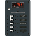 Blue Sea 8405 AC Panel 5 position with Main & Multimeter