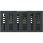 Blue Sea 8465 Distribution Panel 120VAC 24 position with Main