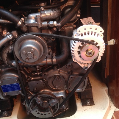 Test fit of new Balmar alternator