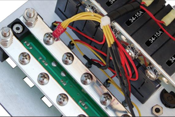 TinPlatedCopper blue sea systems 8068 dc panel 13 pos v ammeter