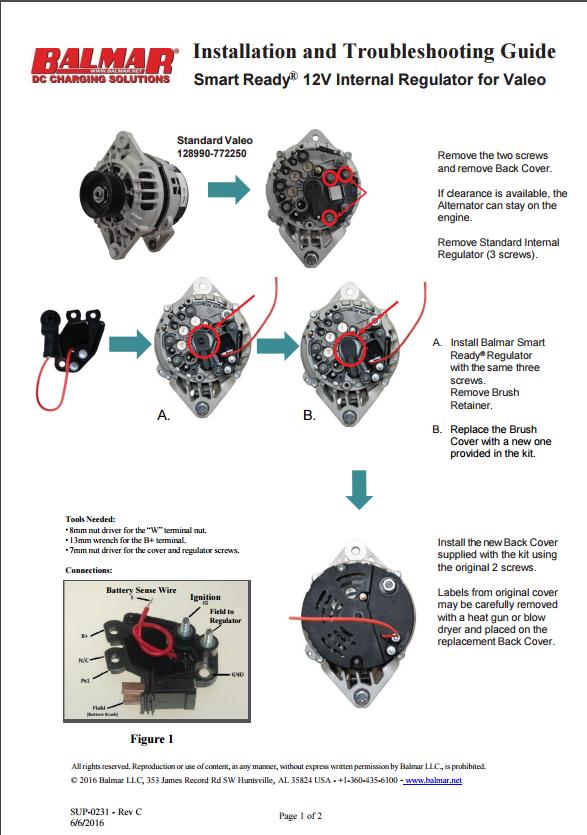 12v Advanced Alternator Regulator Kit Manual Guide