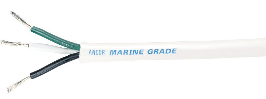 Ancor Triplex Cable, 14/3 AWG (3 x 2mmý), Round - sold by the foot