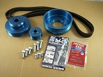 Balmar 48-YSP-4JH-F Pulley Kit for Yanmar 4JH, 4JHE -TE -HTE -DTE