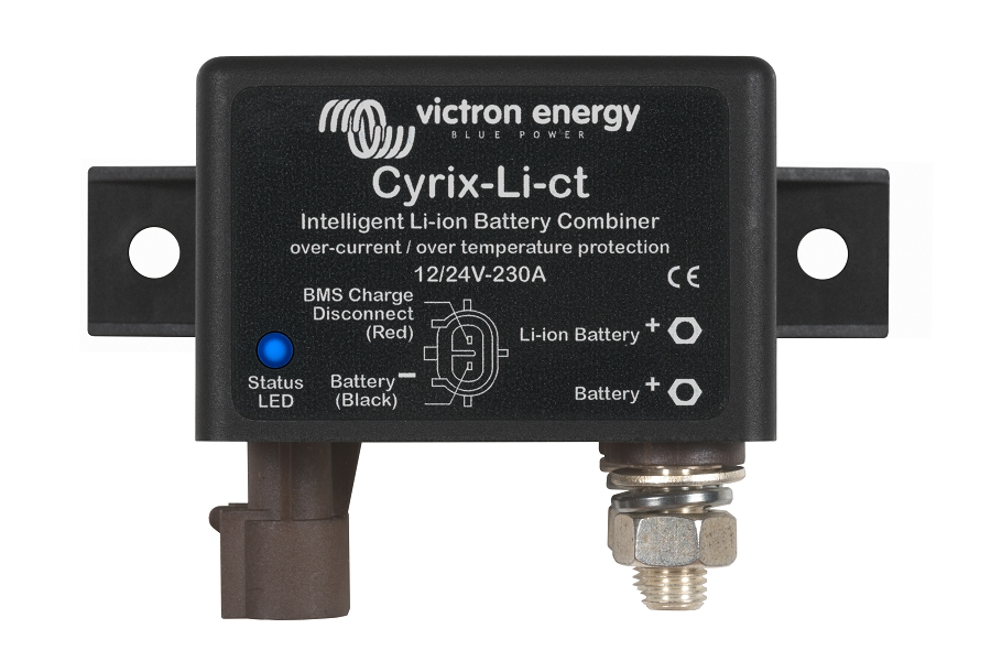 Cyrix-Li-ct 12/24V-230A intelligent Li-ion battery combiner