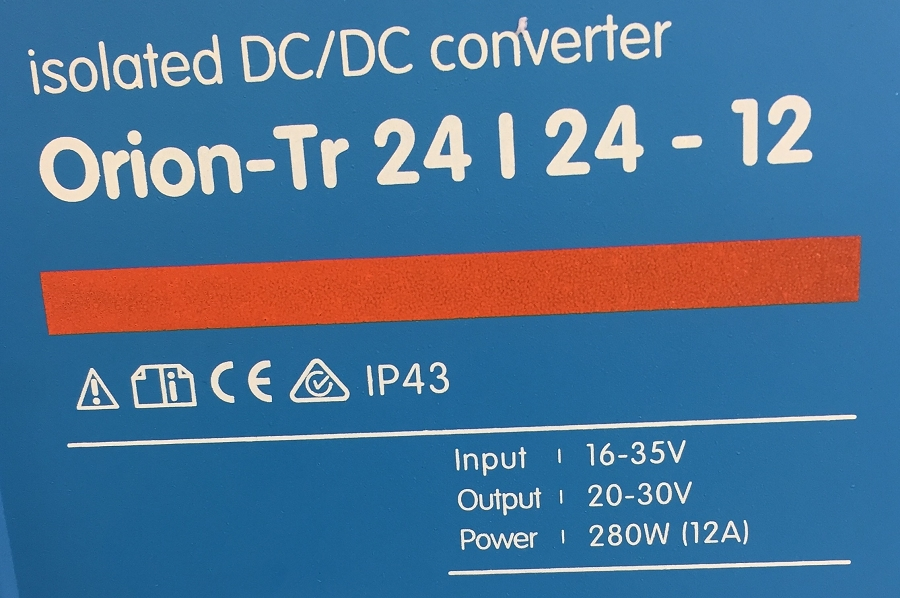 Victron Energy Orion-TR 24/24 Isolated DC-DC Converter 12 Amps (280W)