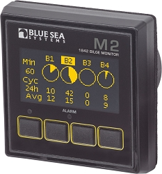 Blue Sea 1842 M2OLED Bilge Monitor for up to 4 Bilge Pumps