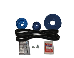 Balmar 48-VSP-M4.17 Serpentine Pulley Conversion Kit for a Vetus M4.17 engine
