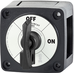 Blue Sea 6004200 Mini ON-OFF Black Battery Switch with Locking Key