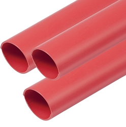 Ancor 305603 Adhesive Lined Red Heat Shrink Tubing, 1/2