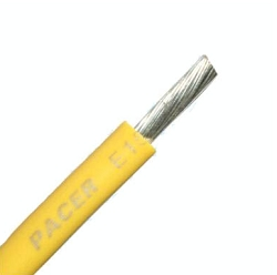Marine Tinned wire 12 awg Yellow - sold  by the foot