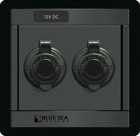 Blue Sea 1478 USB Charger / 12 Volt DC Socket Panel
