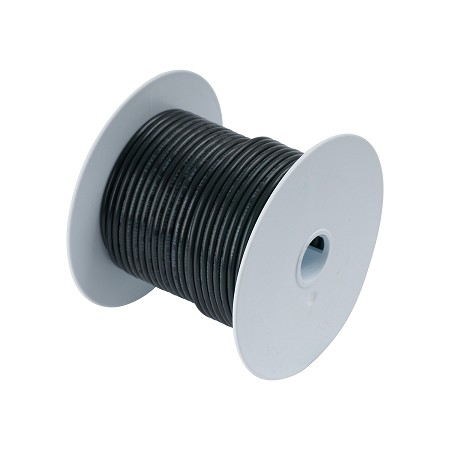 Ancor 108010 Marine Tinned wire 10 awg Black - 100 ft roll