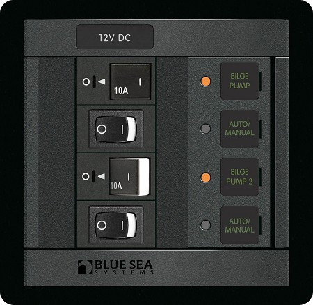 Blue Sea 1522 Dual Bilge Pump Control Panel