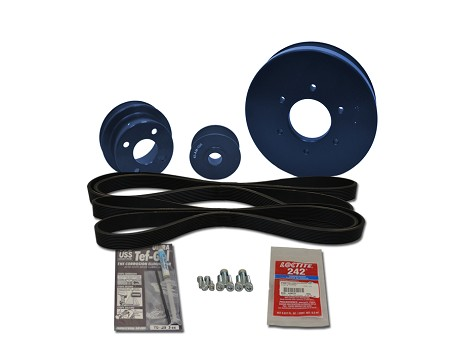 Balmar 48-FSP-100 Serpentine Pulley Conversion Kit 48-FSP-100 For Ford Lehman FL100 Engines