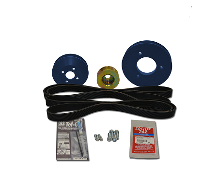 Balmar Serpentine Pulley Conversion Kit 48-NSP-3.3 for Nanni Marine Diesels NE3.30, 4.38