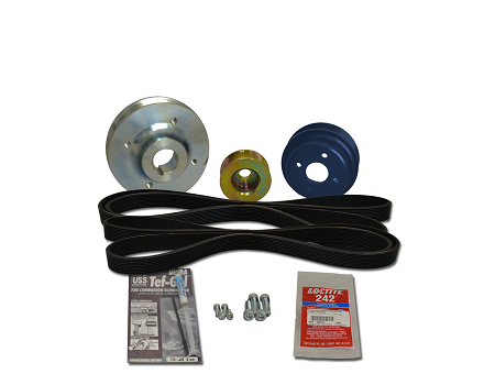 Balmar Serpentine Pulley Conversion Kit 48-USP-M50 for Universal marine diesel models  M50, M-50, M50A, M50B, 5444