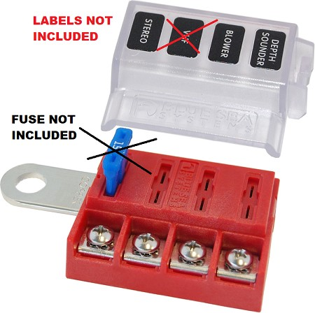 Blue Sea 5023B ST-Blade Battery Terminal Mount Fuse Block (Bulk Pack)