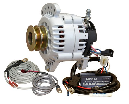 Balmar 60-YP-MC-120-DV Alternator and regulator kit -12 Volt 120 Amp  Dual Pulley